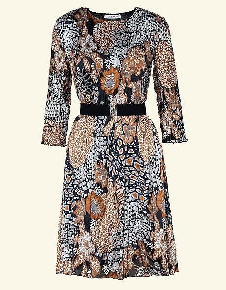 Robe plissée imprimée | CHRISTINE LAURE