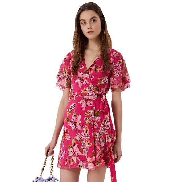 Robe imprimée fleurs rose LIUJO