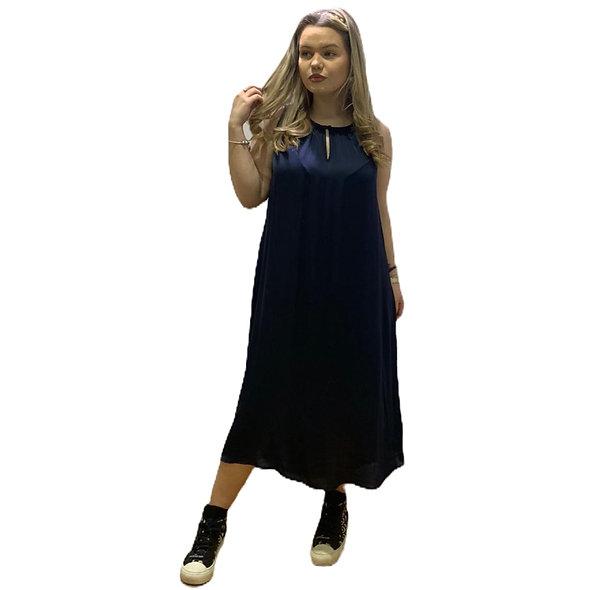 فستان لورين فيدال أزرق بلا أكمام