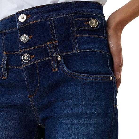 LIUJO بنطلون جينز ضيق مع صف من الأزرار