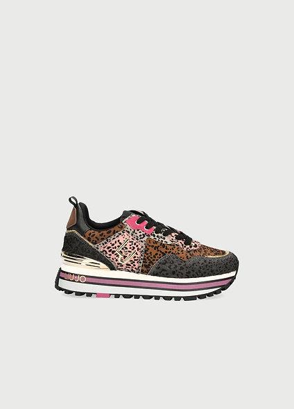 Sneakers à plateforme animalier    LIUJO