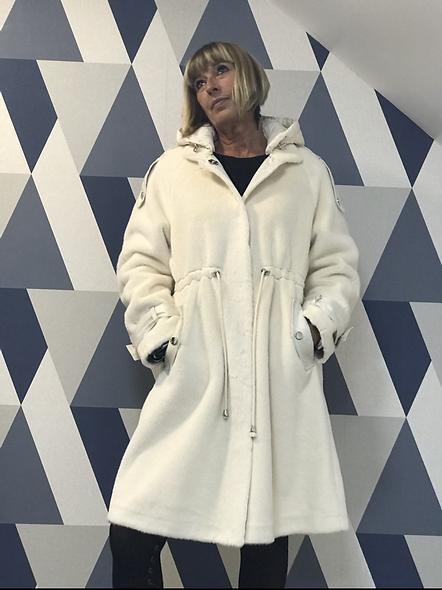 Manteau réversible blanc  PREGIO