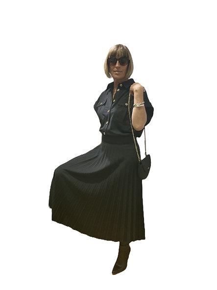 فستان طويل أسود من KOCCA