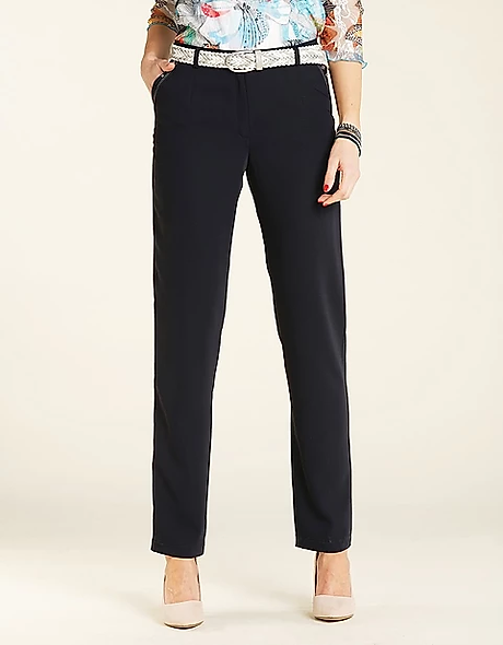 PANTALON NAVY FLUIDE | CHRISTINE LAURE