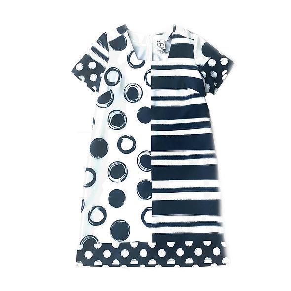فستان مطبوع برقبة مربعة GUY DUBOUIS