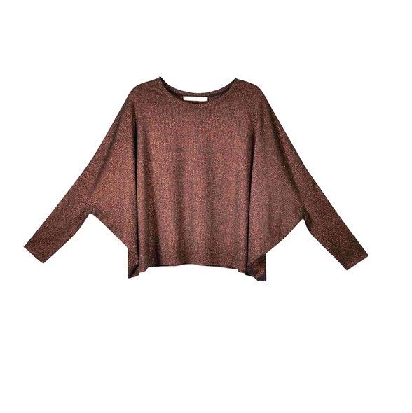 T-shirt Maille manches longues cuivre | LA FÉE MARABOUTÉE