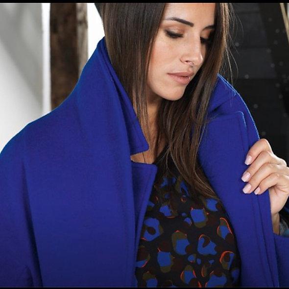 Manteau bleu électrique | PAUSE CAFÉ