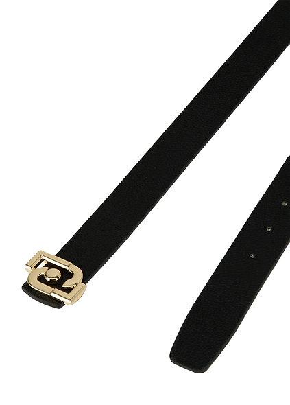 حزام قابل للعكس أسود / وردي | ليوجو