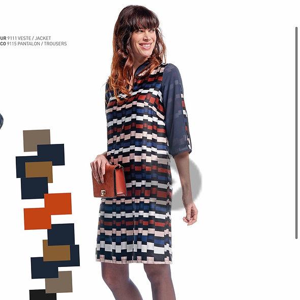 Robe imprimé graphique | MERIESCA