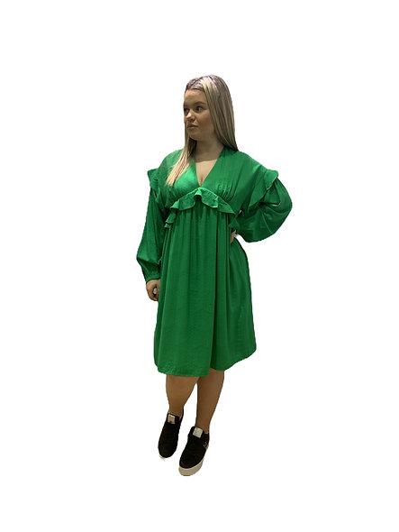 فستان بأكمام طويلة مع كشكش LA FÉE MARABOUTEE