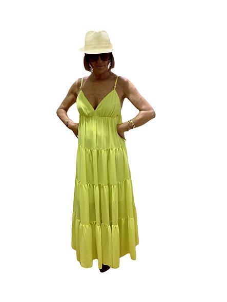 Robe longue sans manches jaune KOCCA