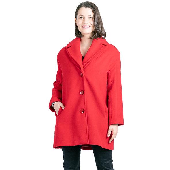 Manteau rouge PAUSE CAFÉ