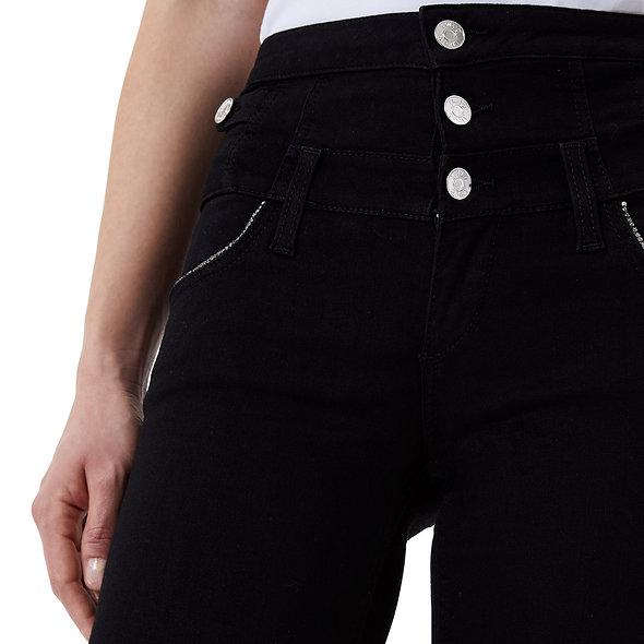 LIUJO بنطلون جينز ضيق بخصر مرتفع