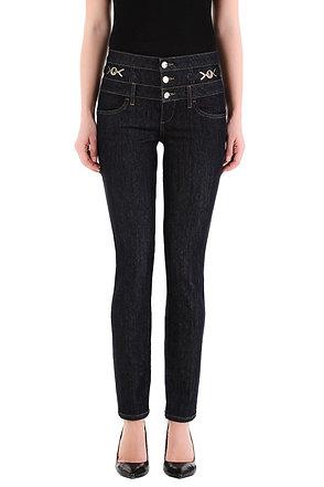 Jean skinny à taille haute logo Liujo