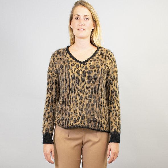 Pull manches longues léopard | LA FÉE MARABOUTÉE