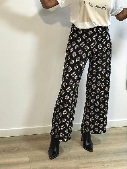 Pantalon fité jambes larges  imprimé | LA FÉE MARABOUTÉE