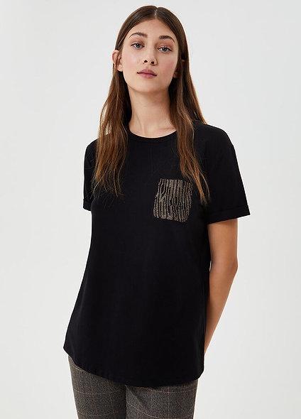 T-shirt avec strass | LIUJO