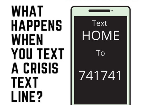 What happens when you text a crisis line?