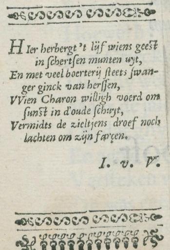Lijkdicht door Joost van den Vondel