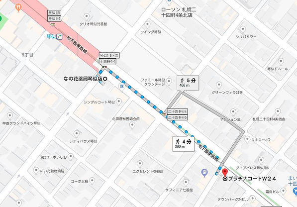 地下鉄東西線琴似駅からの地図