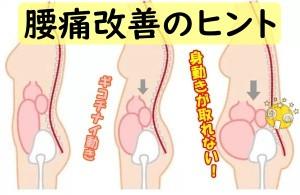 腰痛改善のヒント