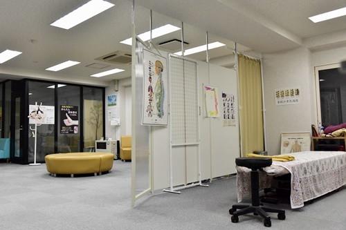 施術場所と待合室
