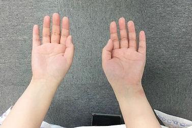 腕の長さが整う