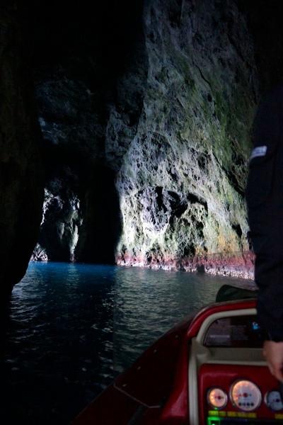 青い洞窟出口