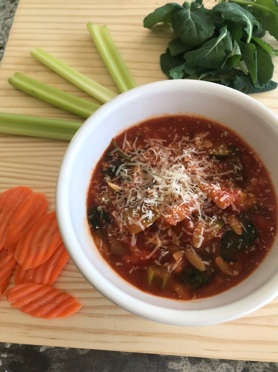 Vegetable + Orzo Soup