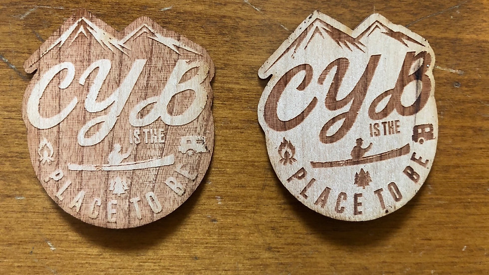 CYB Wooden Sticker