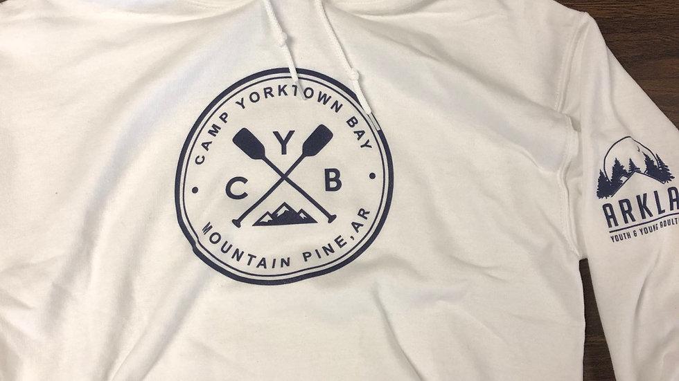 CYB white hoodie