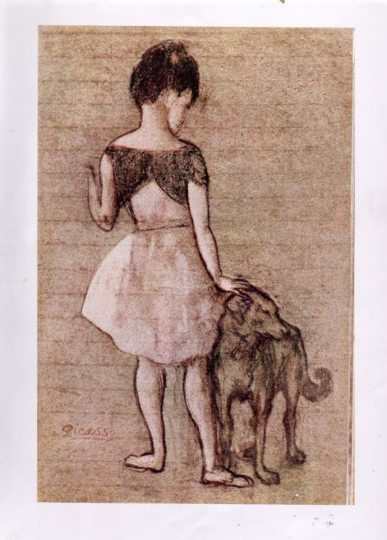 Picasso.Girl with A Dog.jpg