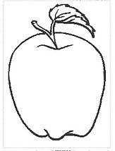 דפי צביעה לראש השנה תפוח