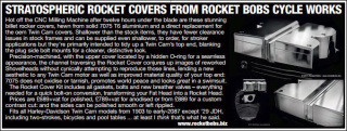 Rocket Bobs Rocker Covers featured in American V magazine