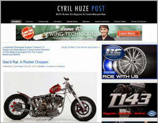 Gas'd Rat featured on Cyril Huze blog