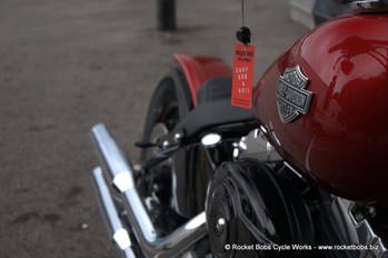 Harley Softail fender conversion