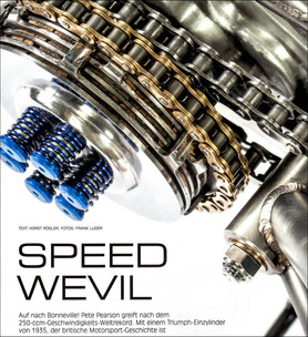 Speed Weevil in Custombike Magazine