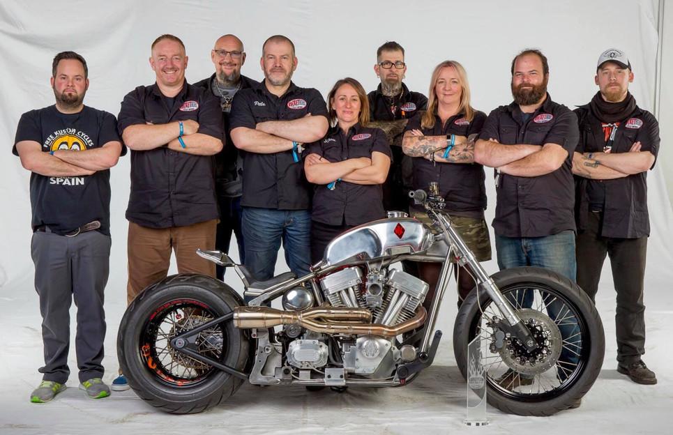 Custombike 2018 Biker Build Off team