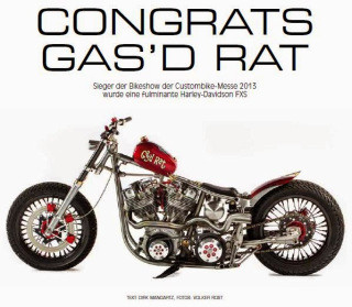 Gas'd Rat feature in CustomBike magazine