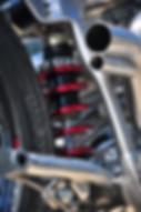 custom harley davidson suspension, rocket bobs, bike build