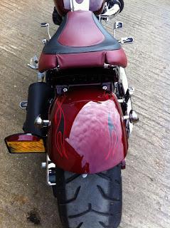 Harley Rocker shaved fender