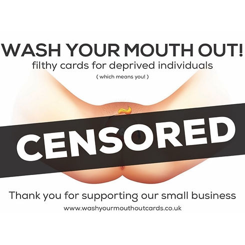 Wash Your Mouth Out Cards 'censored' image