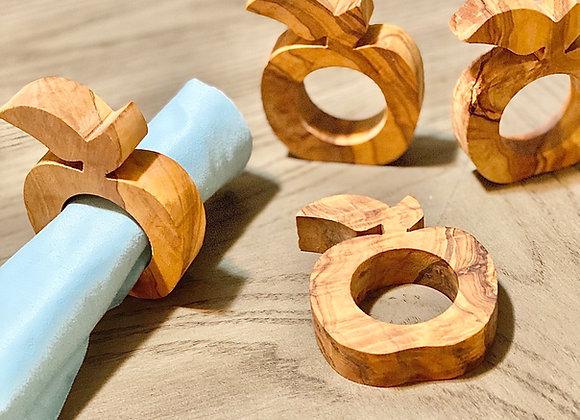 Apple Napkin Rings (set of 4)