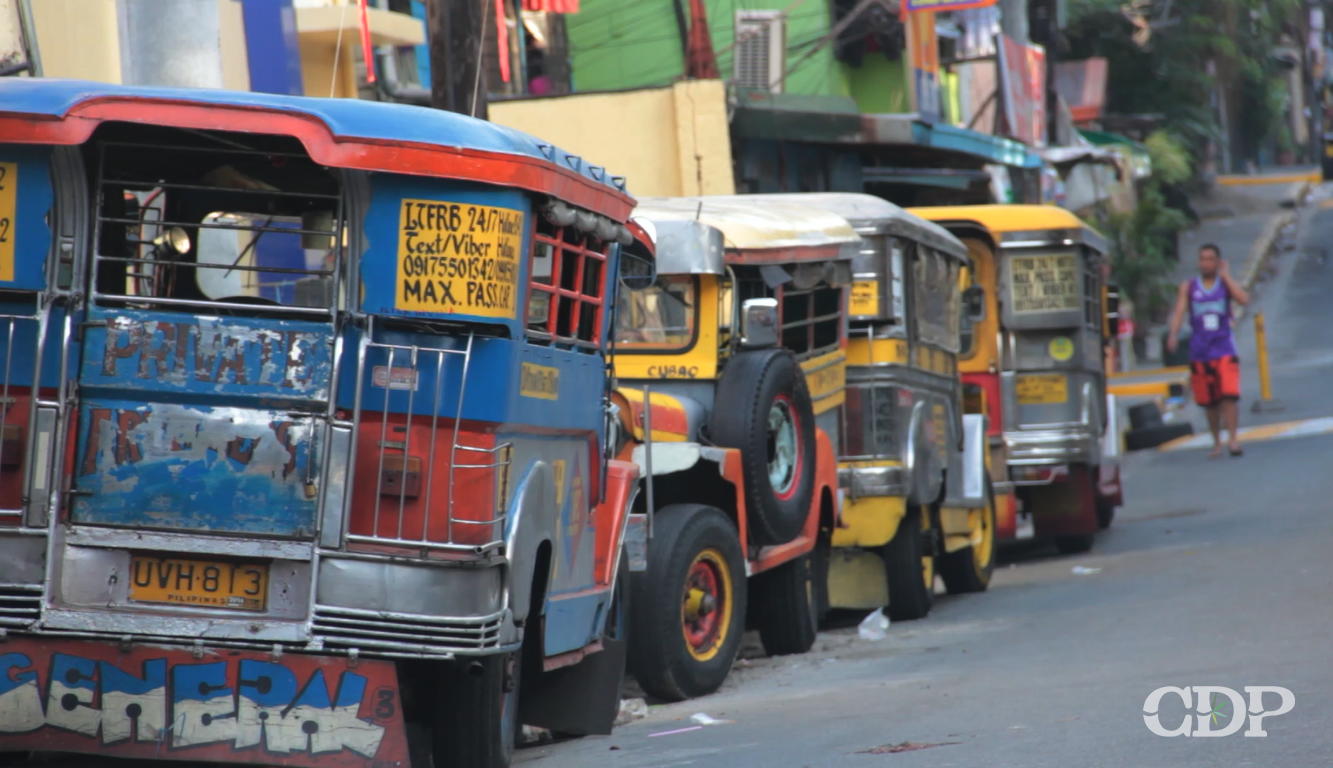 Double parking of jeepneys