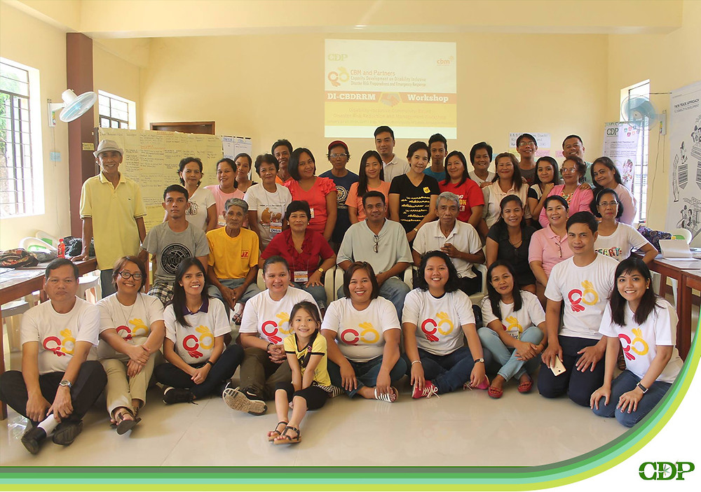 Participants from various sectors in Barangay Tughan, Municipality of Juban, Sorsogon Province participated in the disability-inclusive community-based disaster risk reduction and management workshop facilitated by Center for Disaster Preparedness, CBM, Sorsogon Integrated Health Services, Loving Presence Foundation, and Bethsaida CBR Services for the Disabled.