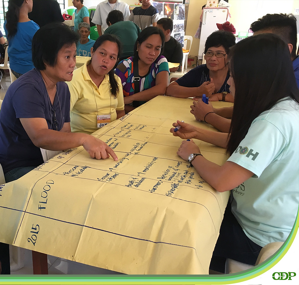 The attendance of participants from different age groups and sectors ensured that the disaster timeline that they crafted would be representative of the experiences of various members of the community.