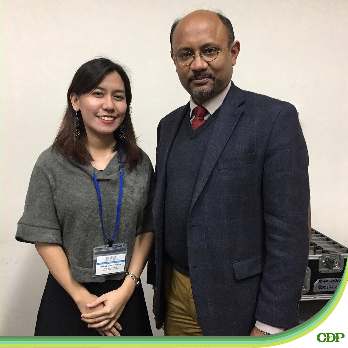 CDP Senior Program Associate Fatima Gay Molina with Dr