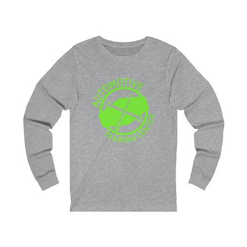 Long Sleeve Tee - Lime Green Logo
