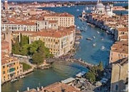 Birds' eye view of Venice, Italy