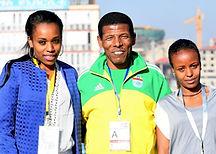 Almaz Ayana, Haile Gebrselassie & Mare Dibaba